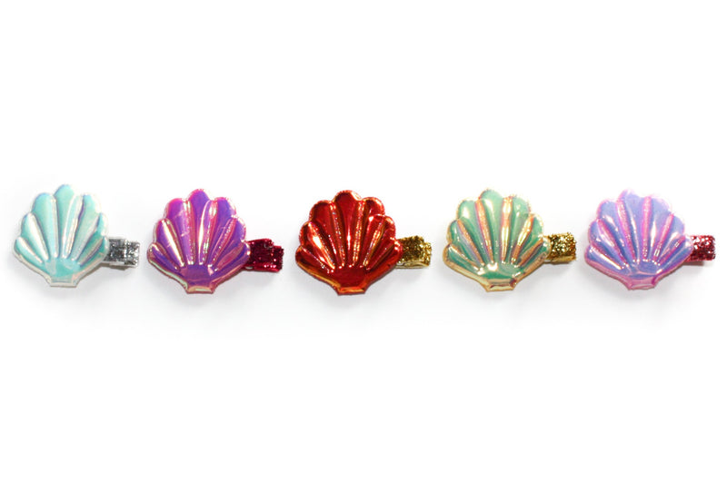Holographic Seashell Clip