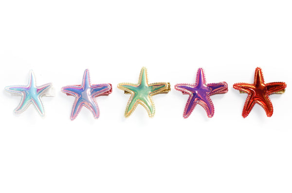 Holographic Starfish Clip