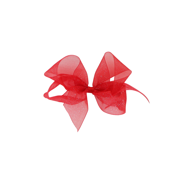 Big Red Diamond Dust Sheer Bow