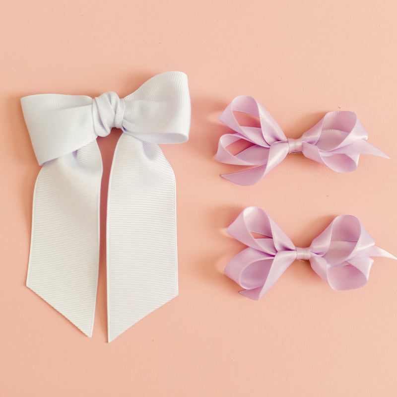 Toddler Pastel Satin Bow