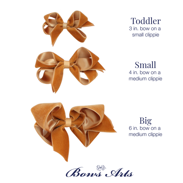 Toddler Gold Velvet Bow