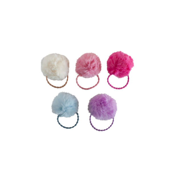 Faux Fur Pom Hair Elastic