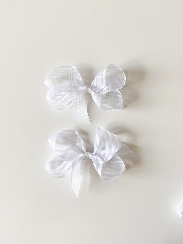 Small Sheer White Bow