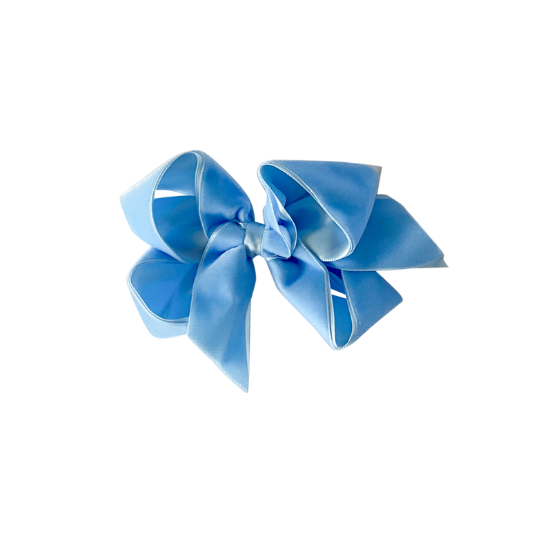 Big Light Blue Velvet Bow