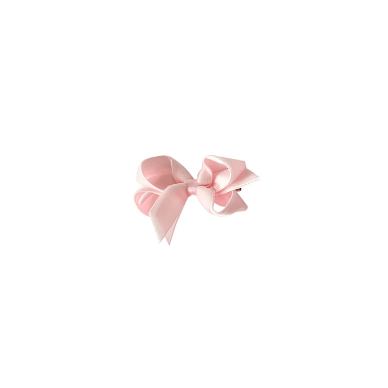 Toddler Light Pink Velvet Bow