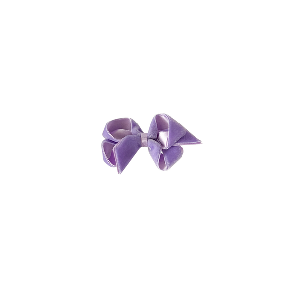 Toddler Lilac Velvet Bow