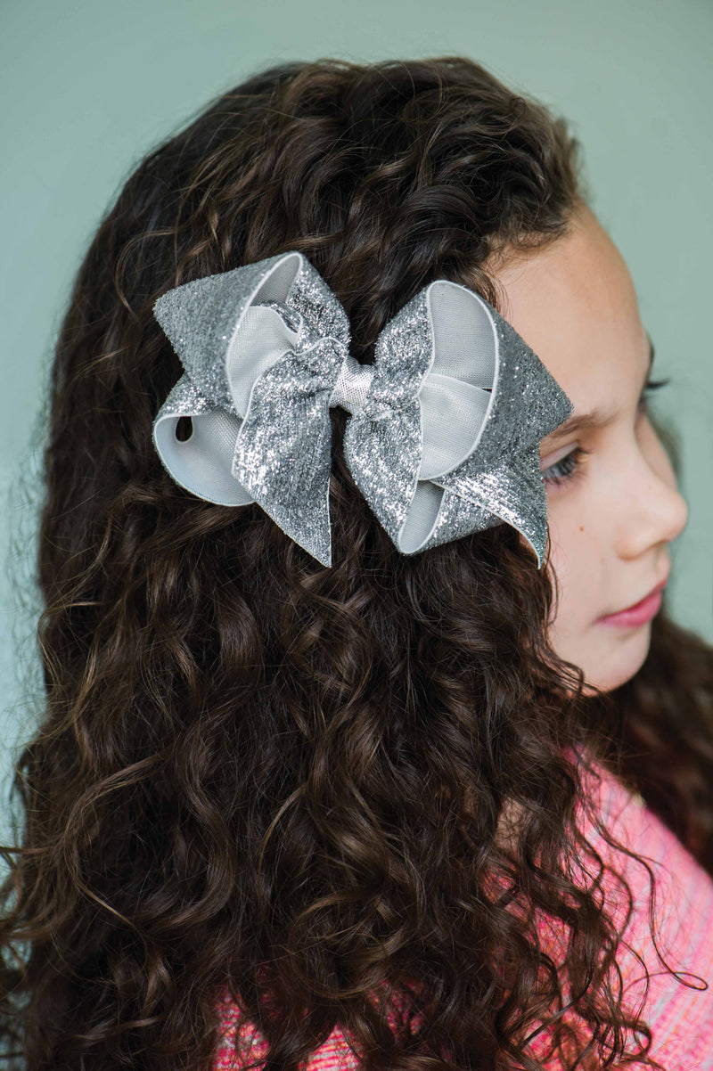 Diamond Dust Velvet Bow - Toddler (3 in.)