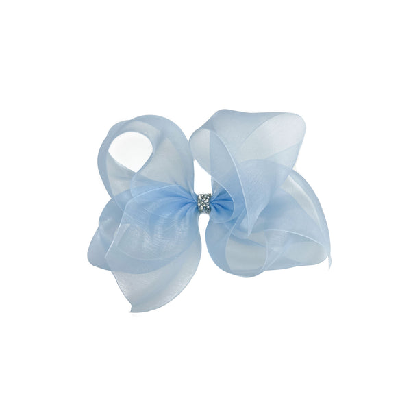 Elsa Organdy Bow - Giant Light Blue