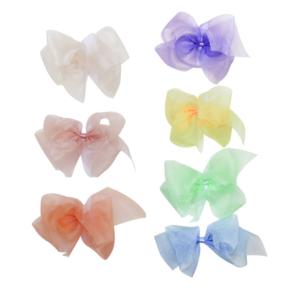 Giant Organdy Bow Spring Colors