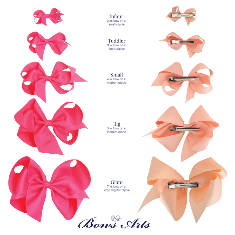 Giant Grosgrain Bow - Apricot