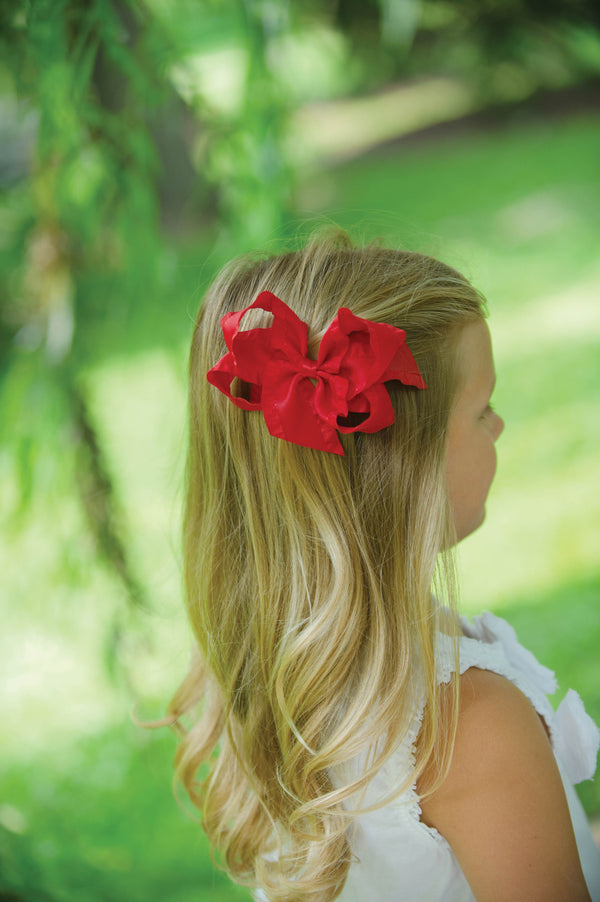 Fall Super Toddler Ruffled Bow