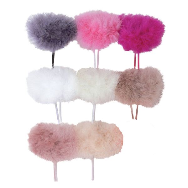 Marabou Feather Narrow Headband