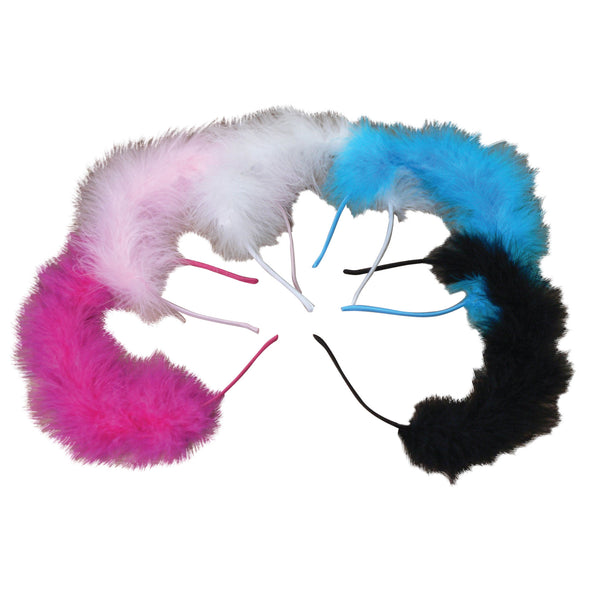 Marabou Feather Tiara Headband