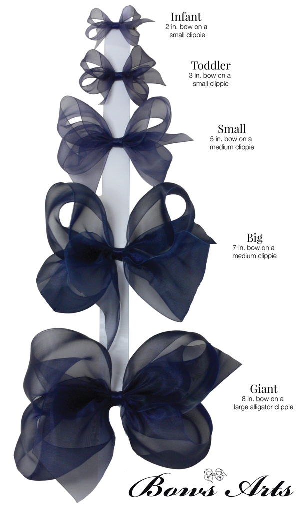 Small Floral Organdy Bow