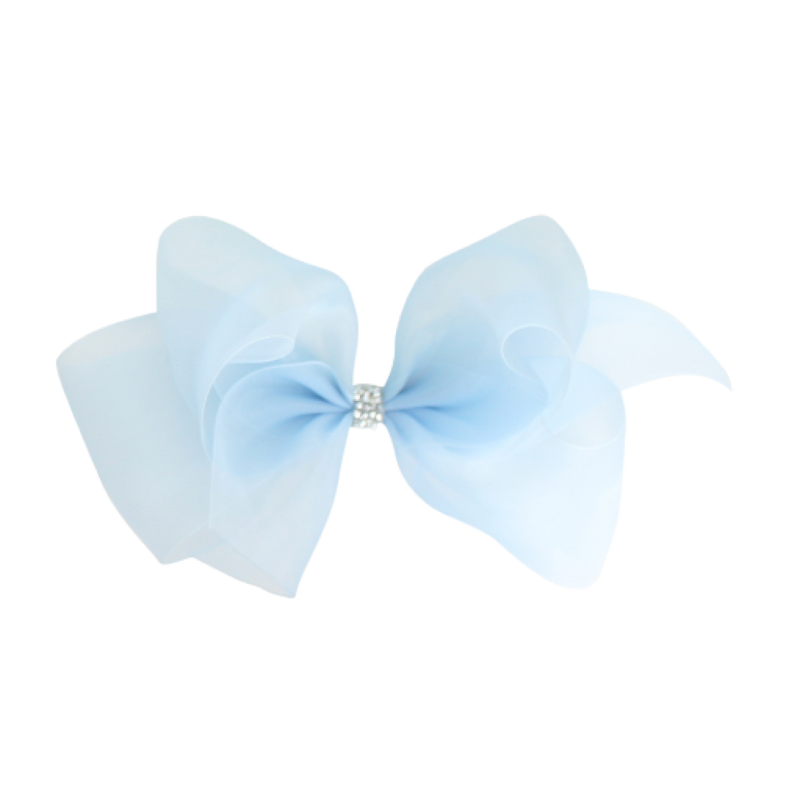 Big Princess Organdy Bow - Light Blue