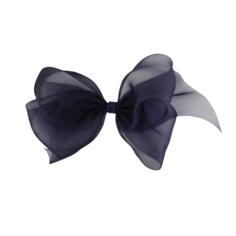 Big Princess Organdy Bow - Navy