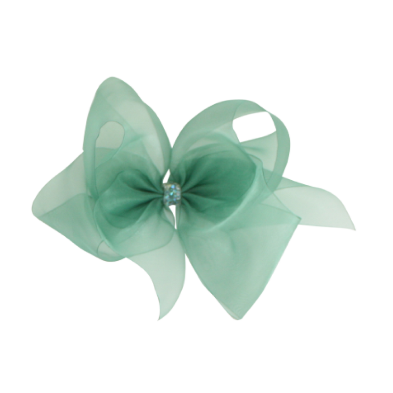 Giant Princess Organdy Bow - Forest