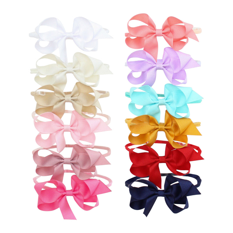 Small Grosgrain Bow Stretch Headband