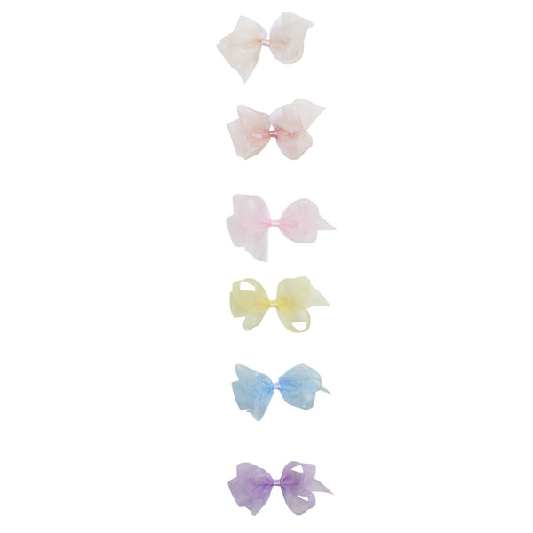 Small Organdy Bow Spring Colors