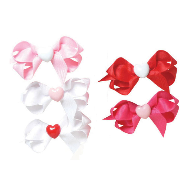 Toddler Heart Charm Bow