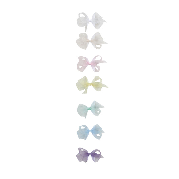 Toddler Organdy Bow Spring Colors