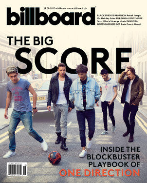 ONE DIRECTION BILLBOARD COVER 2013