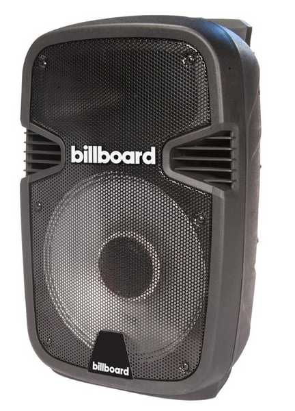 Billboard Party Pro 12 in. Powered Speaker in Black w/ Microphone