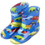 Cartoon Children Rain Boots Animal Fashion Kids Plus Velvet Warm Rubber 2-5Y