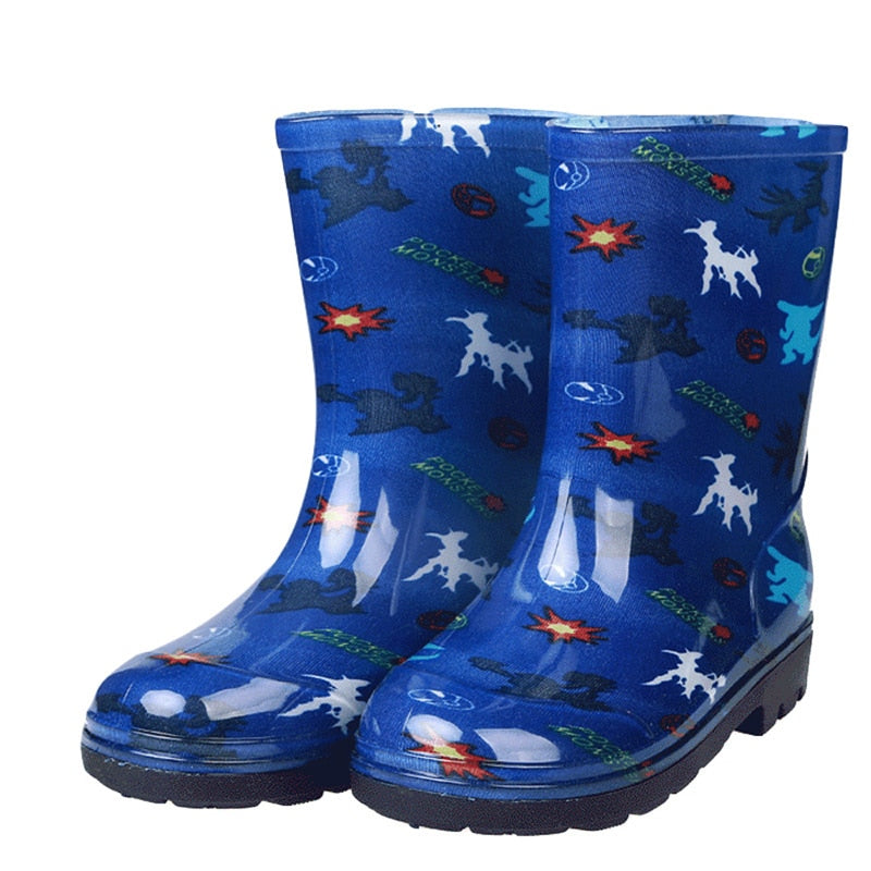 2019 New Fashion Kids Rain Boots Girls Boys Children Shoes Rainboots Loverly Waterproof