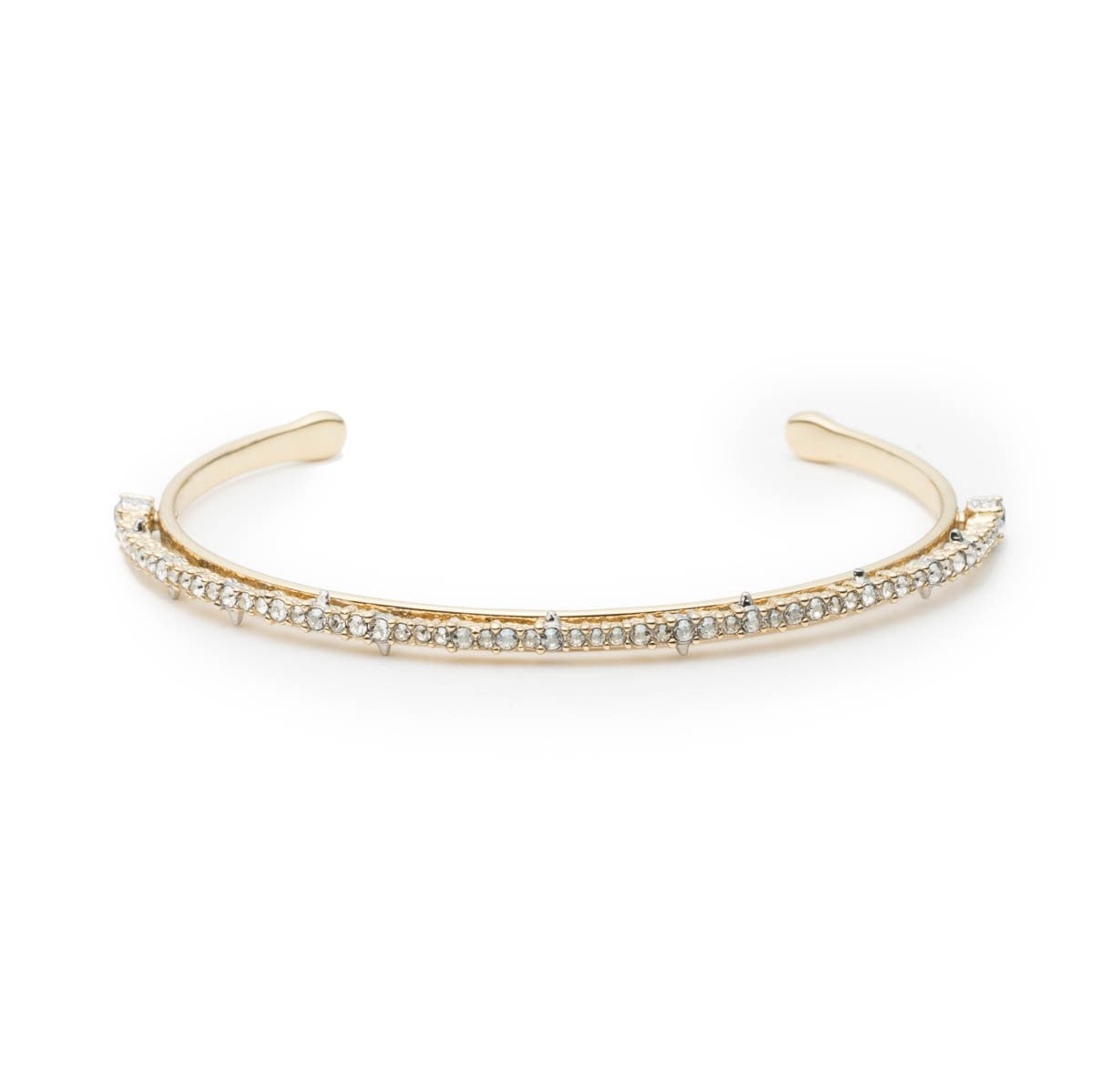 Crystal Lace Orbiting Cuff Bracelet | Gold