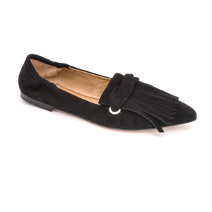 Open image in slideshow, Tassel Ballet 1631 | Black Suede