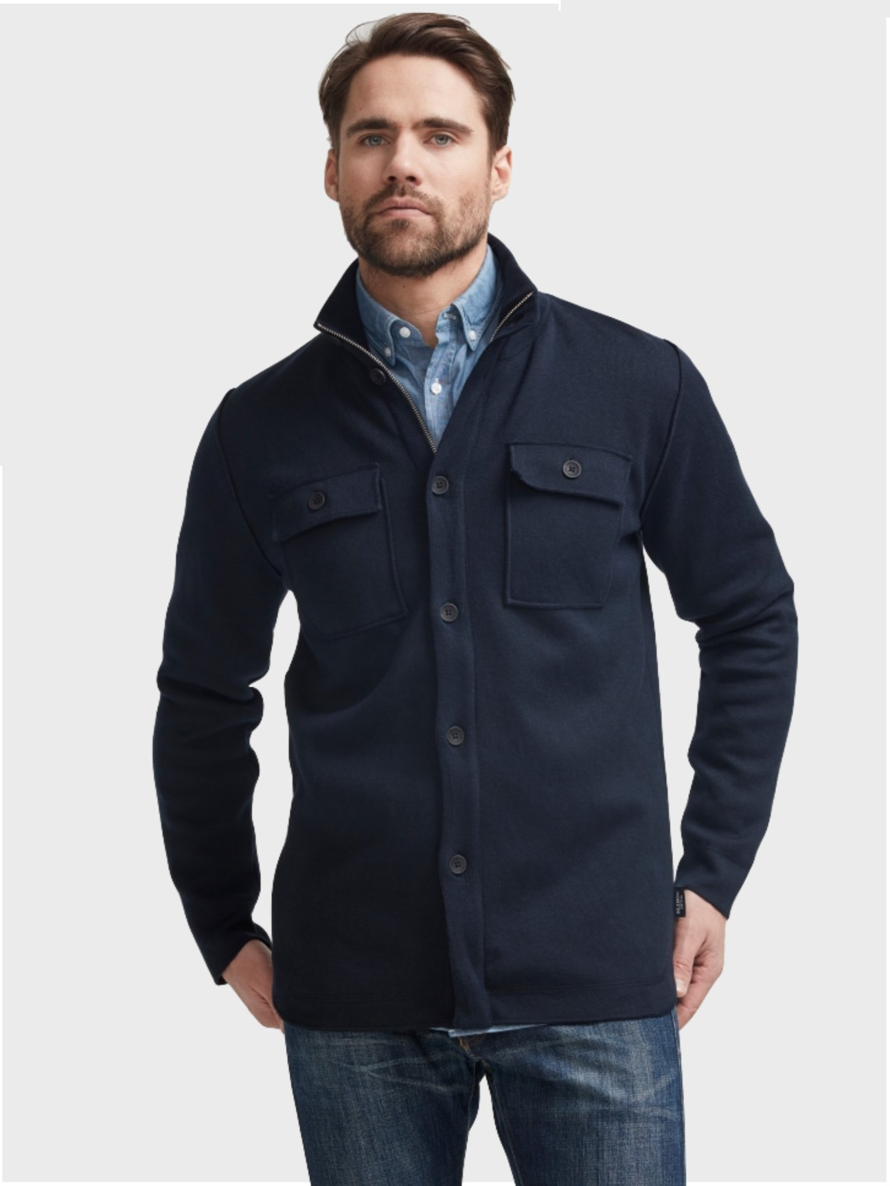 Edwin Shirt Jacket WP | Navy