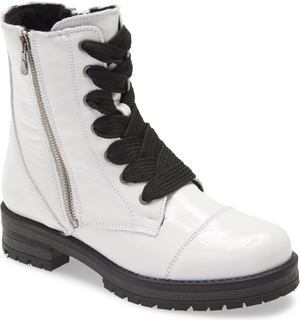 Open image in slideshow, Paulie Boot | White Patent Leather