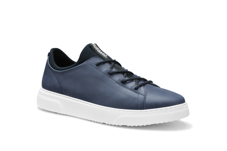 Hubbard Flight | Jet Blue Leather / White Sole