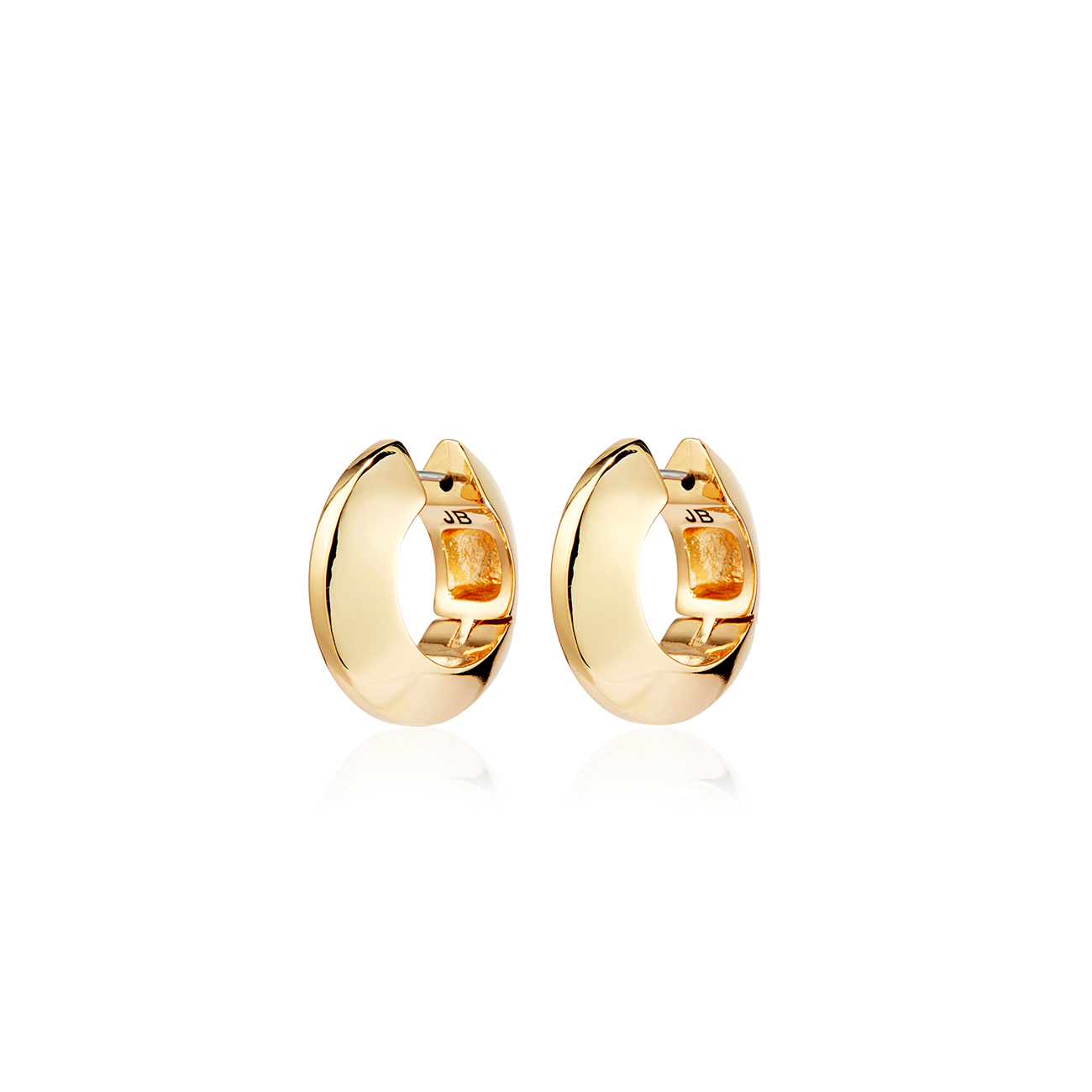 Wide Hinged Hoops | Gold