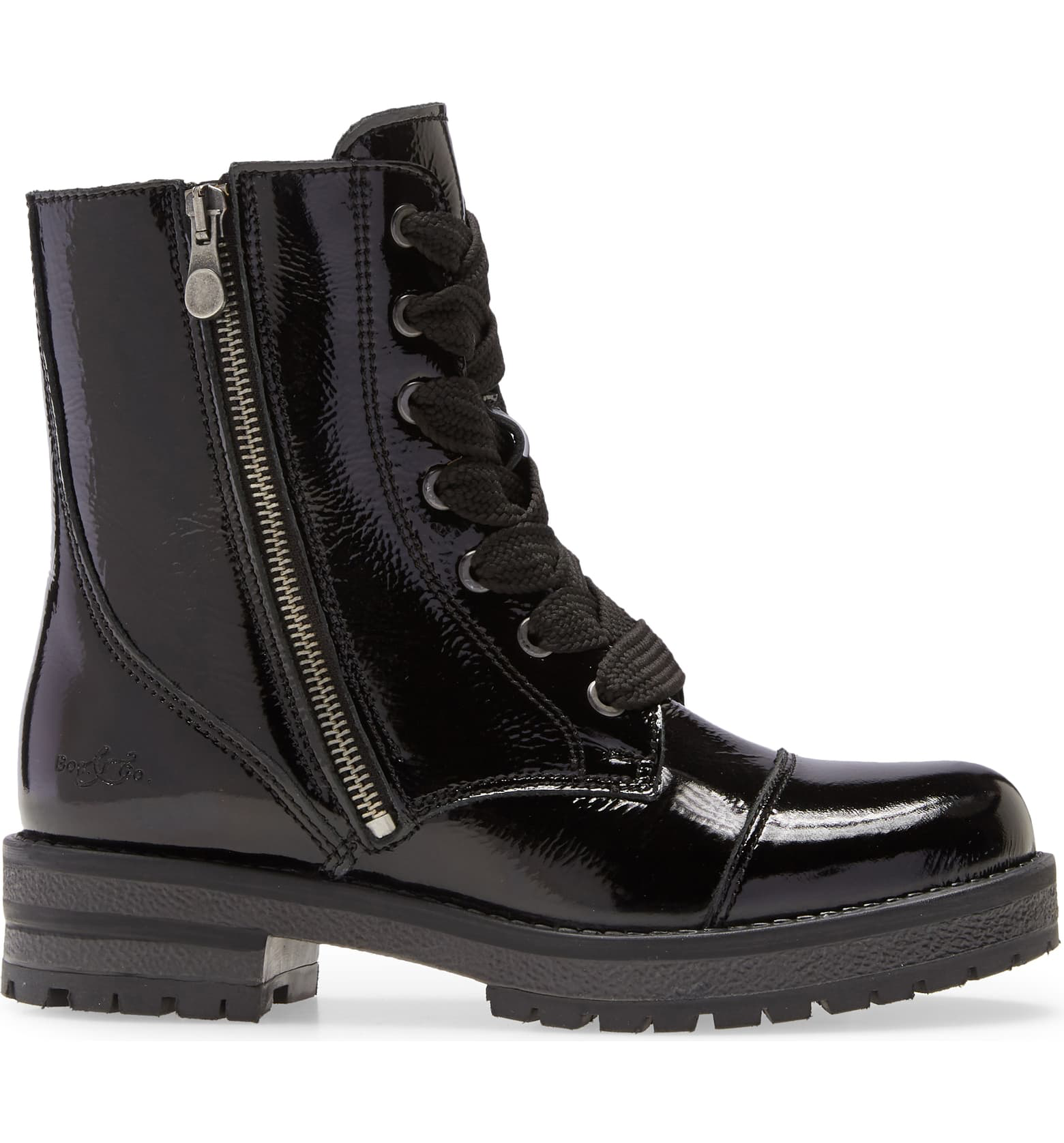 Paulie Boot | Black Patent Leather