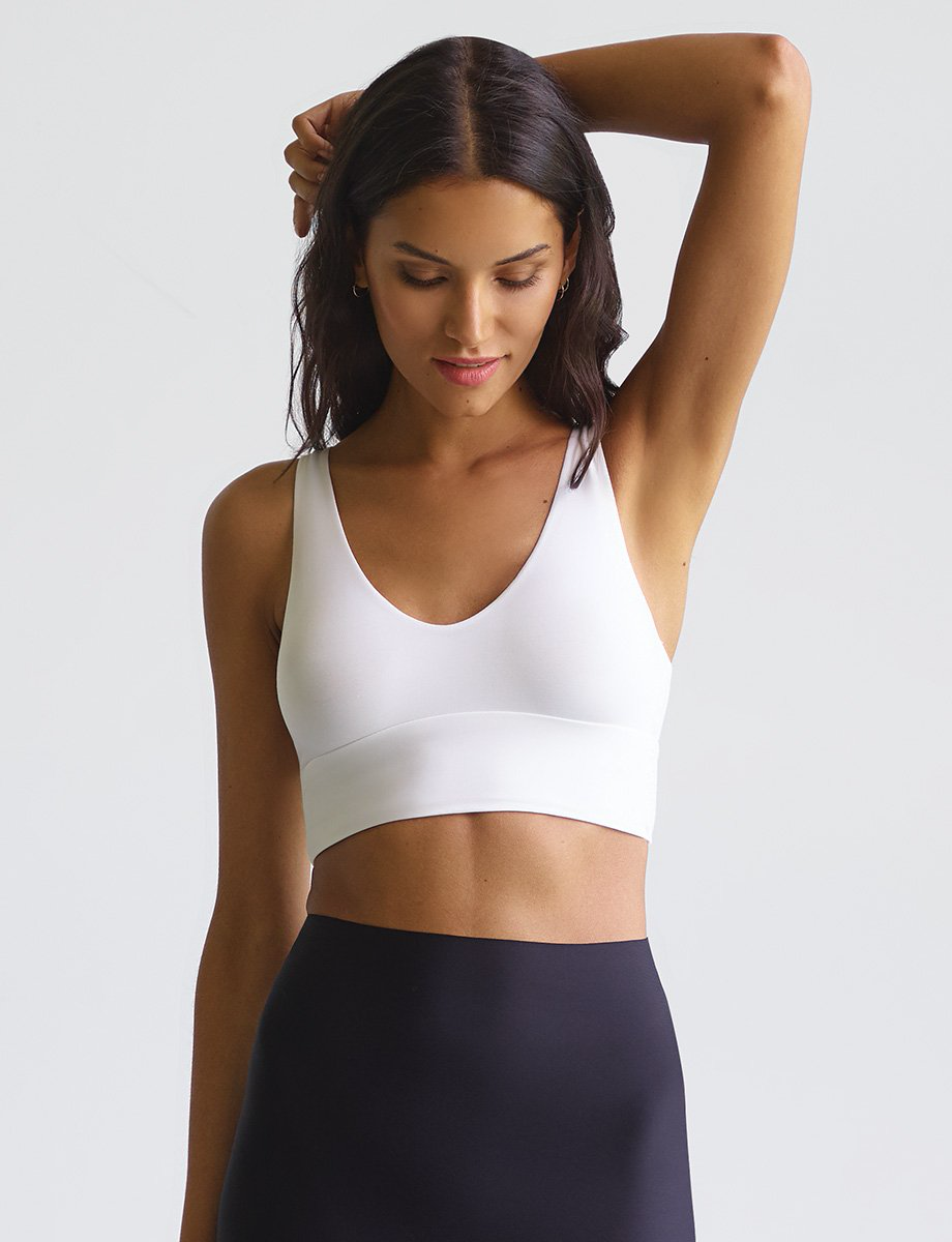 Butter Comfy Bralette | White