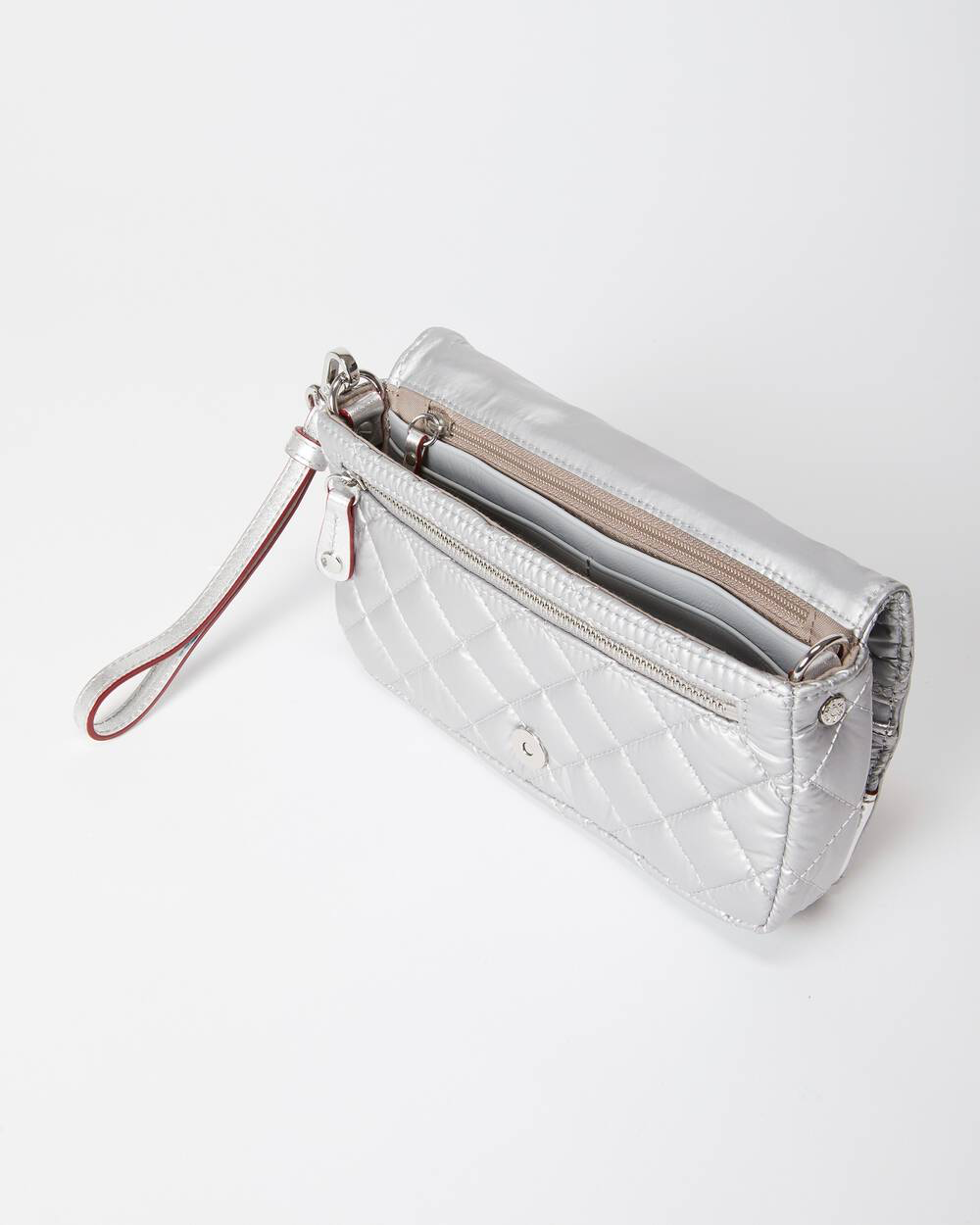 Crosby Convertible Wristlet | Tin Metallic