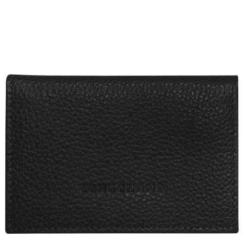 Card Holder with Flap | Black
