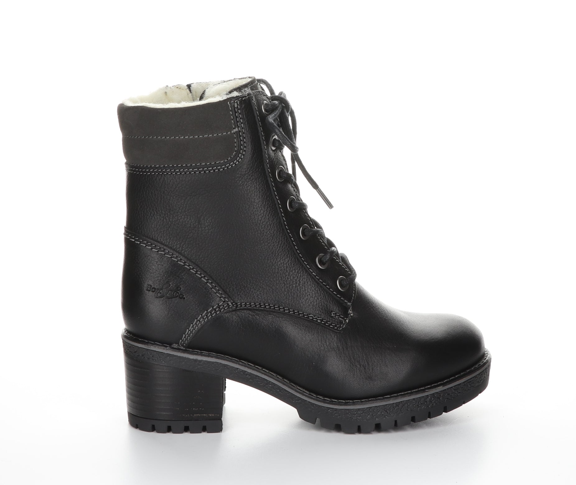 Mustang Bootie | Black  Leather