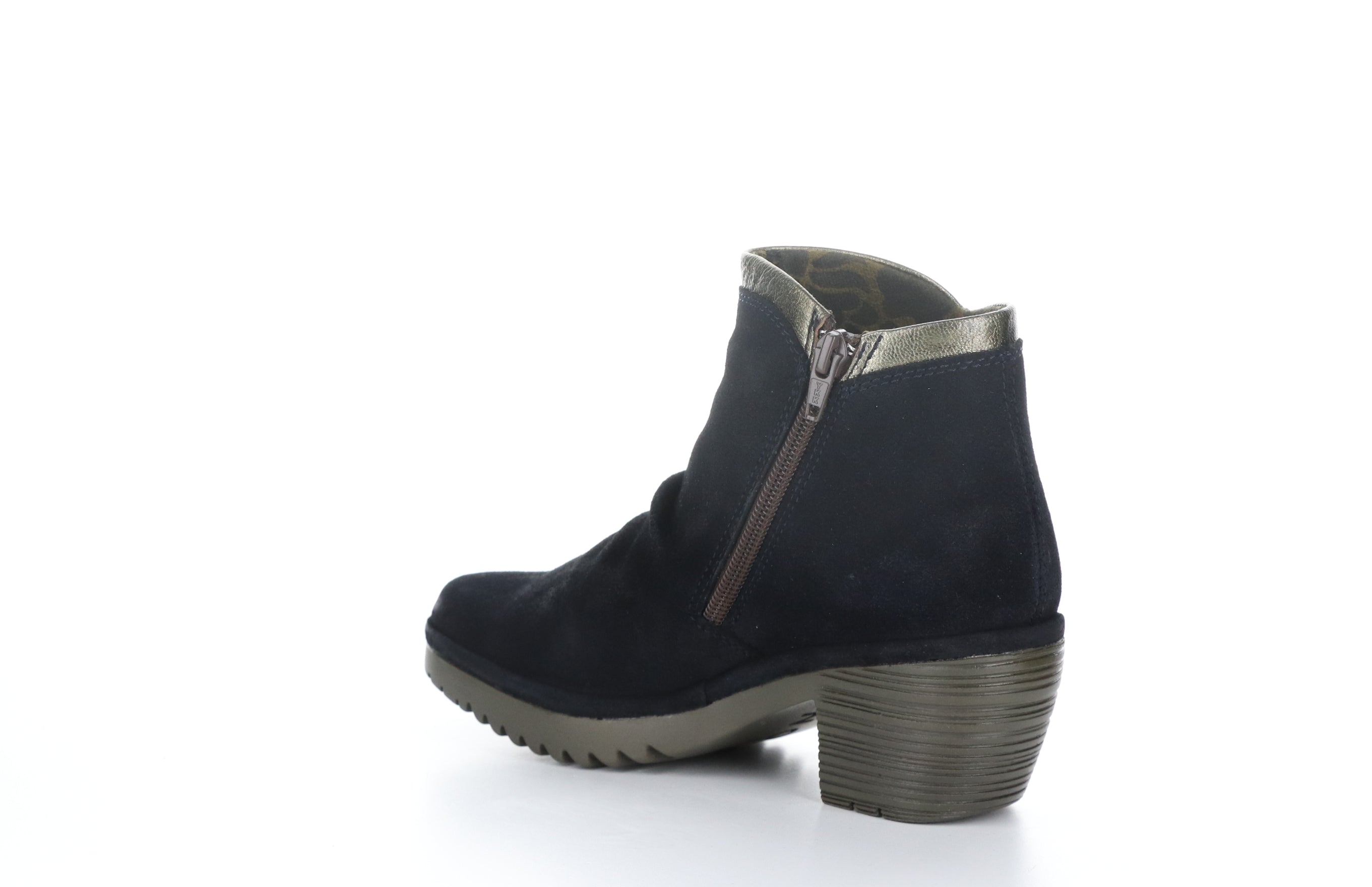 Wynn | Navy Suede/Coffee Metallic