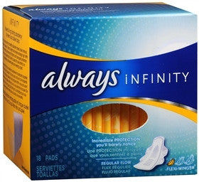 Always Infinity Ultra Thin Reg Pads
