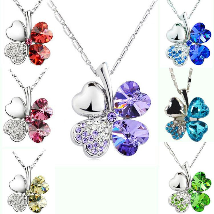 Swarovski Crystal Clover Necklace