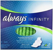 Always Infinity Ultra Thin Heavy Flow Pads