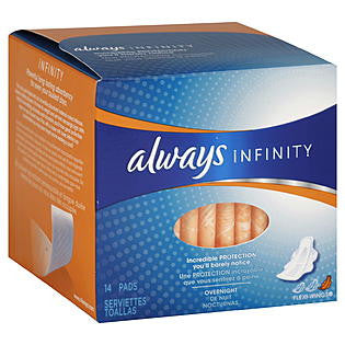 Always Infinity Ultra Thin Overnight Pads