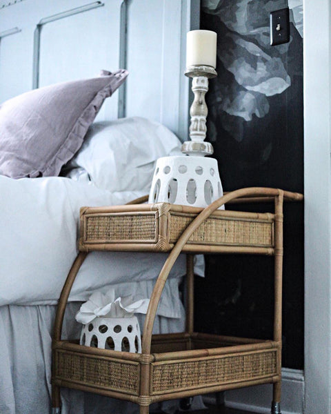 Interior Design BRB… Dying over this nightstand cart idea! @thecultivatedhome has done it agai…