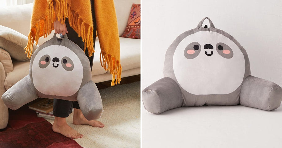 This Vibrating Sloth Reading Pillow Will Ensure You Never Get Up From the Couch