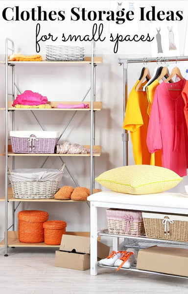 Knowing different options for clothes storage makes organization in small spaces possible and functional