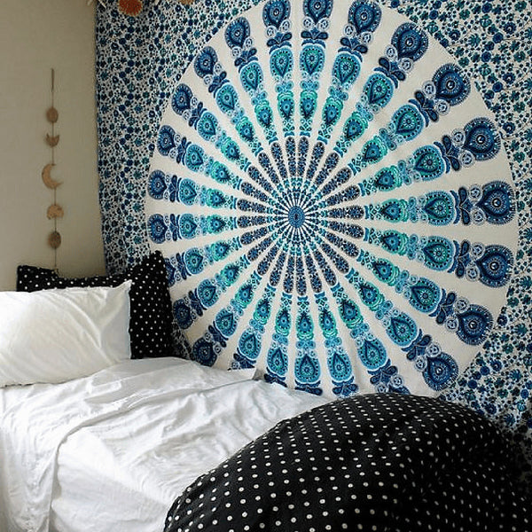 Offers Blue And White Tapestry