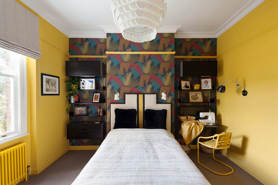 This Yellow Guest Room Moonlights as a Study and Soon-to-Be Piano Studio